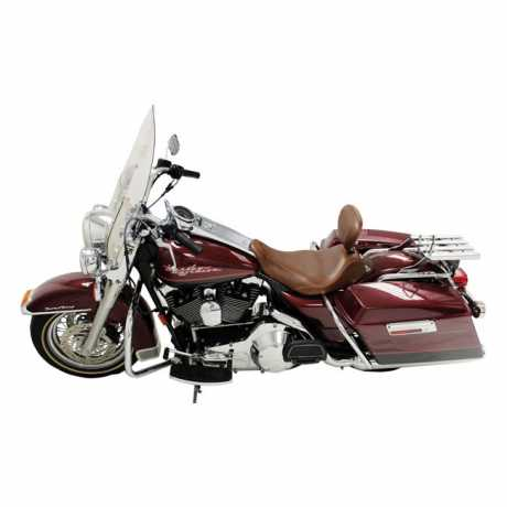 """Mustang Mustang Wide Tripper Solo Seat with backrest 14"""", distressed brown  - 537022"""