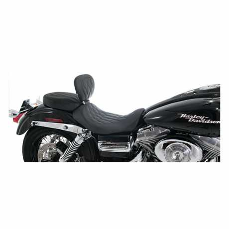 """Mustang Mustang Wide Tripper Solo Seat with Backrest 13"""" Diamond, black  - 537034"""