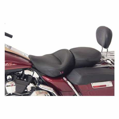 mustang 1 piece touring heated seat 17 black thunderbike h d shop. Black Bedroom Furniture Sets. Home Design Ideas