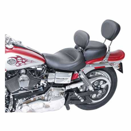 """Mustang Mustang Vintage Solo Seat with Backrest 16.5"""", black  - 537226"""