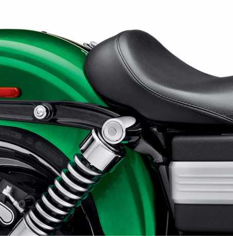 Harley-Davidson Stoßdämpferschrauben-Abdeckungen chrom  - 54000016