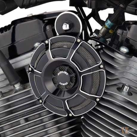 Arlen Ness Arlen Ness Beveled horn kit, black  - 55-0165