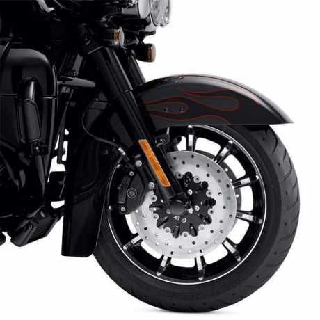 """Harley-Davidson Roulette Custom-Rad 17"""" Vorn Kontrastchrom  - 55065-10"""