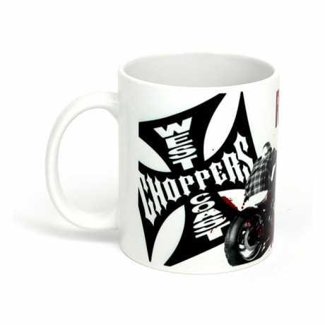 West Coast Choppers West Coast Choppers Tasse Ride Hard Sucker weiß  - 559142