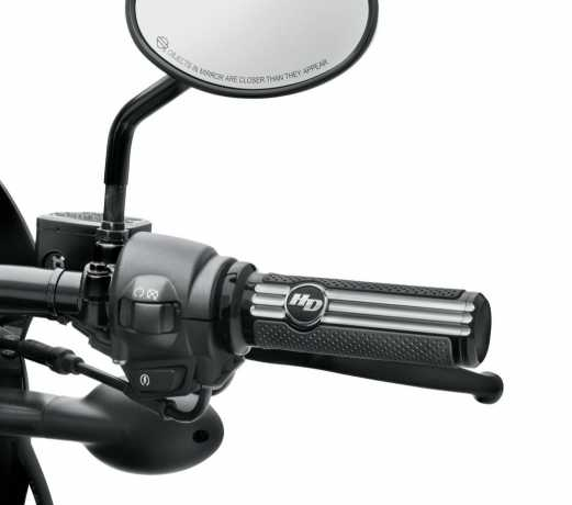 Harley-Davidson Defiance Hand Grips, black cut  - 56100223