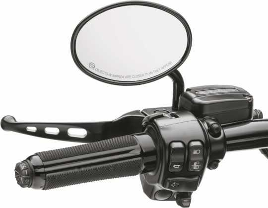 Harley-Davidson Airflow Hand Grips heated gloss black  - 56100358