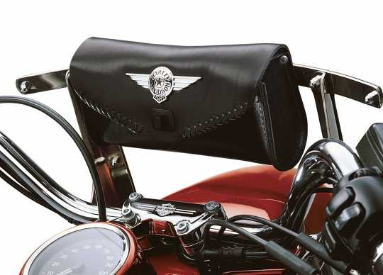 Harley-Davidson Fat Boy Windshield Bag with Die-Cast Concho  - 56626-99