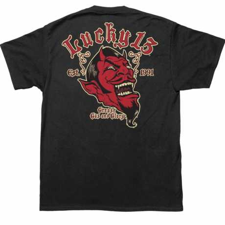 Lucky 13 Lucky 13 Grease, Gas & Glory T-Shirt Black  - 566471V