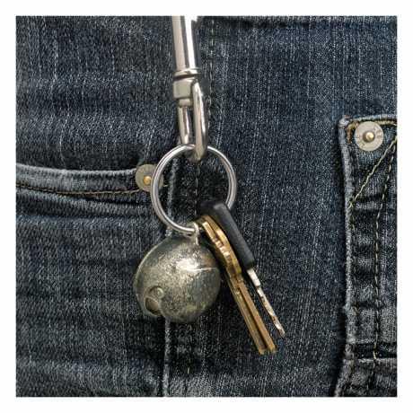 Biltwell Biltwell Lane Splitter Schlüsselanhänger, White Brass  - 569297