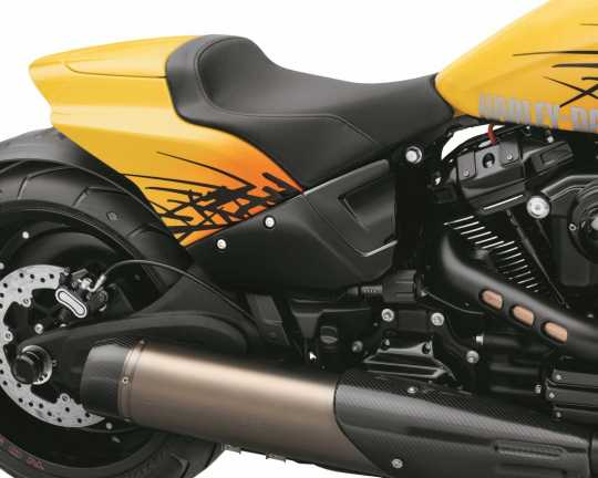 Harley-Davidson Color Shop Limited Series Aggressive Edge Destroyer Side Covers, Vivid Black  - 57200223DH
