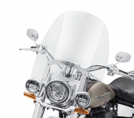 "Harley-Davidson King-Size Nostalgic Detachable Windshield 21"" clear & polished  - 57400329"