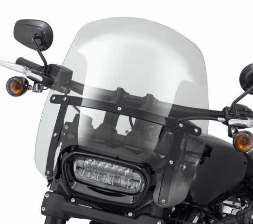"Harley-Davidson Wind Splitter Detachable Compact Windshield 15"" light smoke & black  - 57400330"