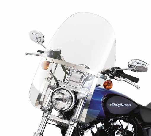"Harley-Davidson Abnehmbare Kompakt-Windschutzscheibe 18"" klar & polierte Streben  - 58063-04"