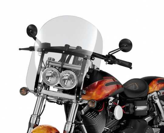 "Harley-Davidson Abnehmbare Kompakt-Windschutzscheibe 19"" klar & schwarze Streben  - 58617-09"
