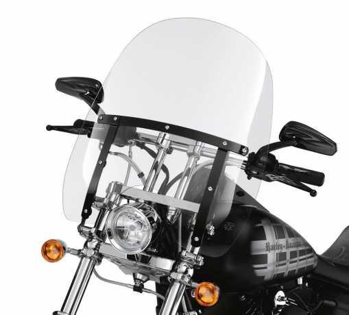 "Harley-Davidson Abnehmbare Kompakt-Windschutzscheibe 18"" klar & schwarze Streben  - 58706-09"