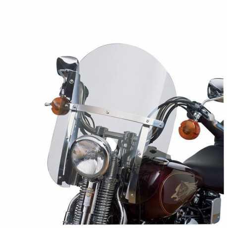 "Harley-Davidson Detachable Compact Windshield 18"" clear & polished braces  - 58770-96"