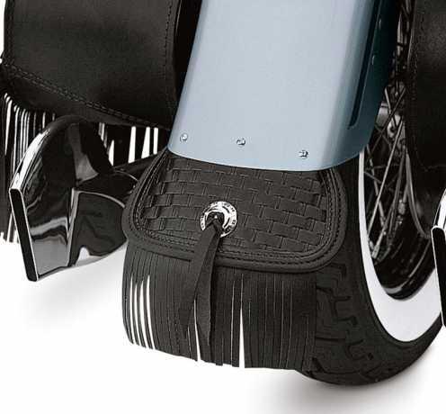Harley-Davidson Heritage Springer Leather Mud Flap with Fringe  - 59027-99