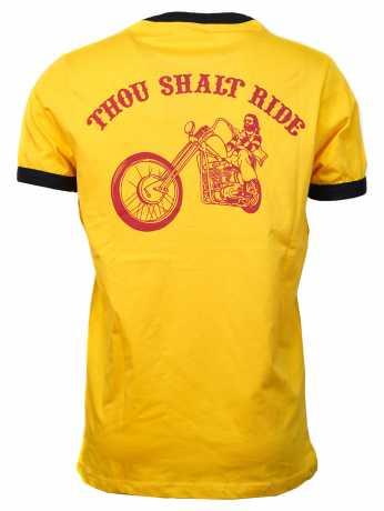 13 1/2 Magazine 13 1/2 Ringer T-Shirt Thou Shalt Ride gelb  - 590733V