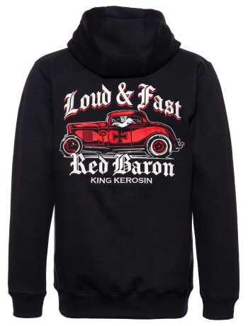 King Kerosin King Kerosin Red Baron Zip Hoodie schwarz  - 592331V