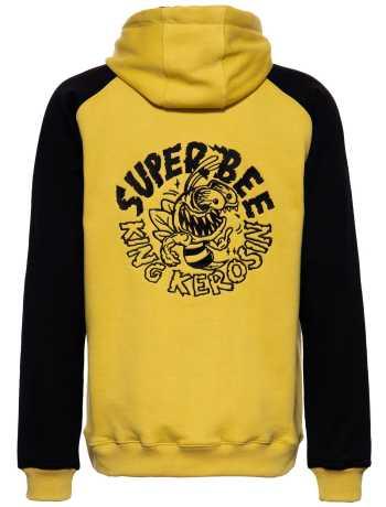 King Kerosin King Kerosin Super Bee Monster Raglan Zip Hoodie Black/Yellow  - 592361V