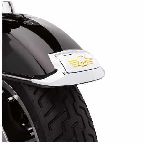Harley-Davidson Fenderspitzen-Kit mit Glaseinsatz und Skull Logo  - 59651-01
