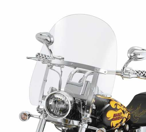 "Harley-Davidson Quick-Release Compact Windshield 19"" clear & polished Braces  - 59802-05"