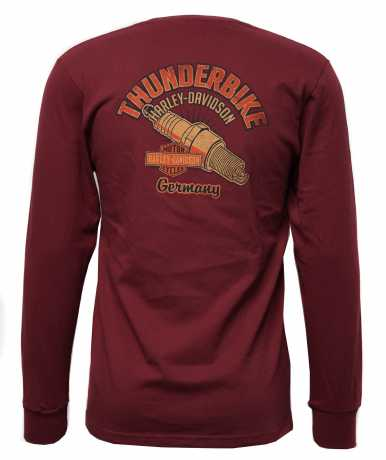 H-D Motorclothes Harley-Davidson Longsleeve Running on Dust red  - 5L36-HK4Y
