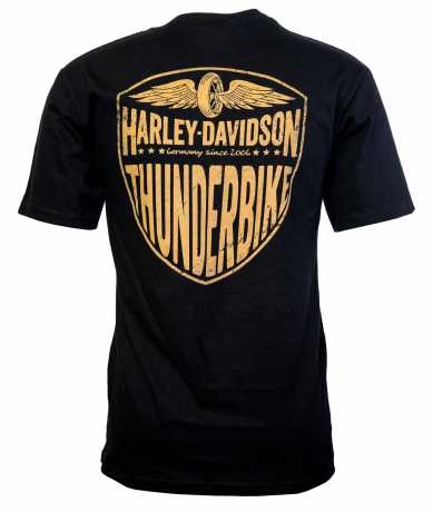 H-D Motorclothes Harley-Davidson T-Shirt V-Neck Bar & Shield schwarz  - 5M33-CIKP