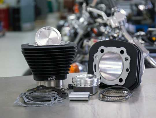 """S&S Cycle S&S Cylinder Kit, 3-1/2"""" Bore, 4.650"""", 3-13 16"""" Stroke, Black  - 60-1365"""
