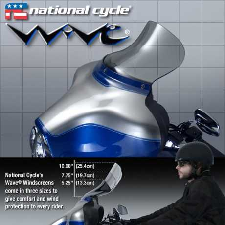 """National Cycle National Cycle Wave Windschild 7,75"""", leicht getönt  - 60-3581"""