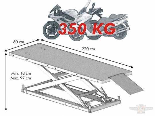 Econ Econ Motorrad Hebebühne FH 350 rot  - 60-7678