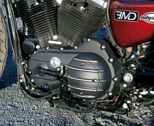EMD EMD Trackster Primärdeckel schwarz cut  - 60-7200