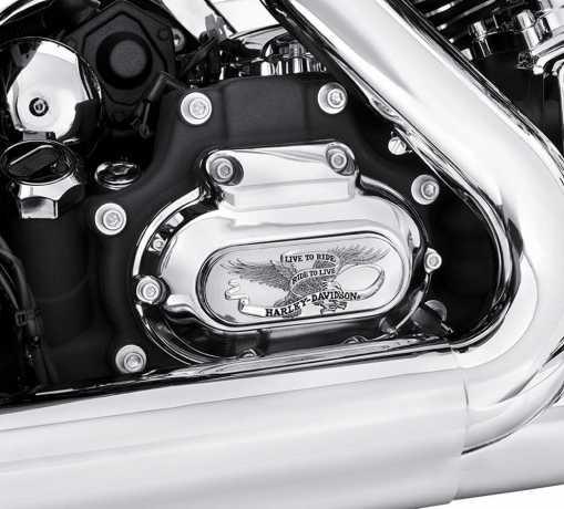 Harley-Davidson Transmission Trim Live To Ride 103 chrome  - 60825-11