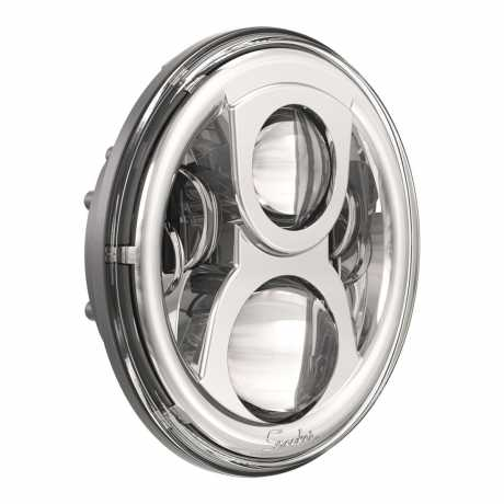 "JW Speaker JW Speaker 8700 Evo 2 Headlight, 7"" chrome  - 61-9523"