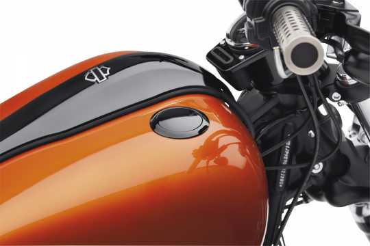 Harley-Davidson Bündiger Tankdeckel schwarz  - 63140-10B