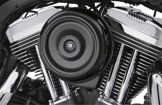 Harley-Davidson Runder Luftfilterdeckel im Bobber-Stil schwarz  - 61300128