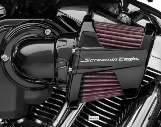 Harley-Davidson Screamin Eagle Heavy Breather Billet Aluminum Filter Cover, black  - 61300688