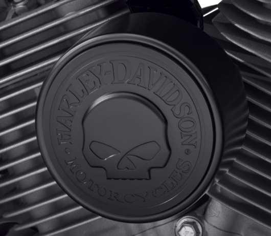 Harley-Davidson Willie G Skull Horn Cover black  - 61301045