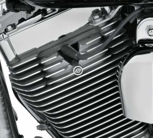 Harley-Davidson Zylinderkopf Bolzenbrücke gerippt, CVO Granit mit Highlights  - 61400148