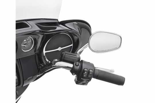 Harley-Davidson Lautsprecherverzierung Vorne chrom  - 61400197
