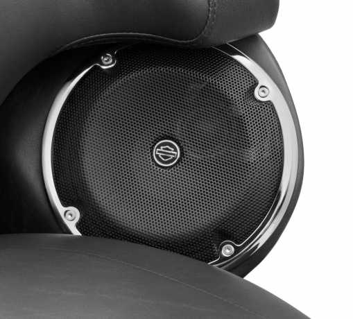 Harley-Davidson Boom! Audio Rear Speaker Trim chrome  - 61400210