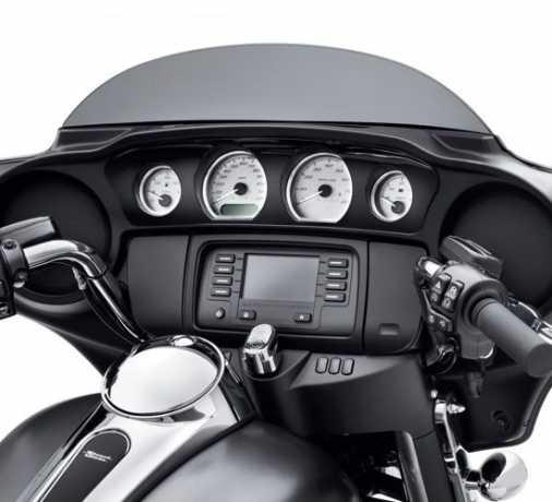 Harley-Davidson Gauge Panel Trim, black  - 61400278