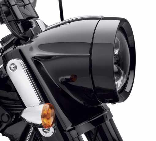 """Harley-Davidson Scheinwerfer Zierring 7"""" Freight Train schwarz  - 61400295"""
