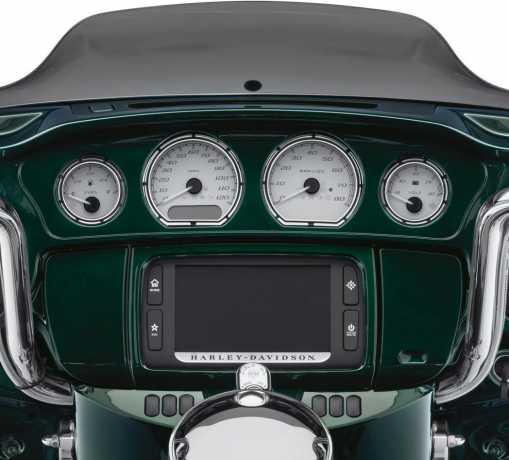 Harley-Davidson Burst Gauge Bezel Kit  - 61400317