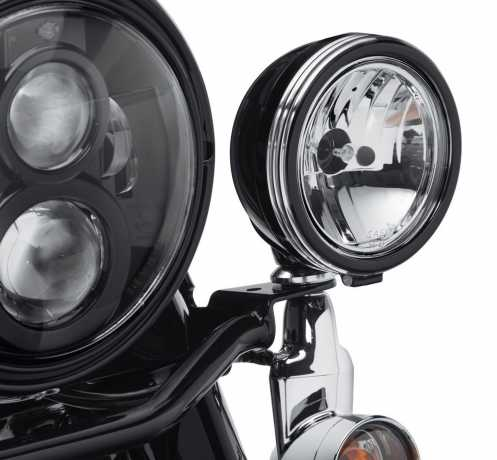 "Harley-Davidson Defiance Auxiliary Lamp Trim Rings 4"" black cut  - 61400355"