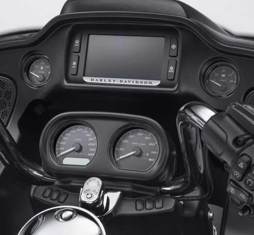Harley-Davidson Defiance Instrumenten Zierfassungen schwarz  - 61400360
