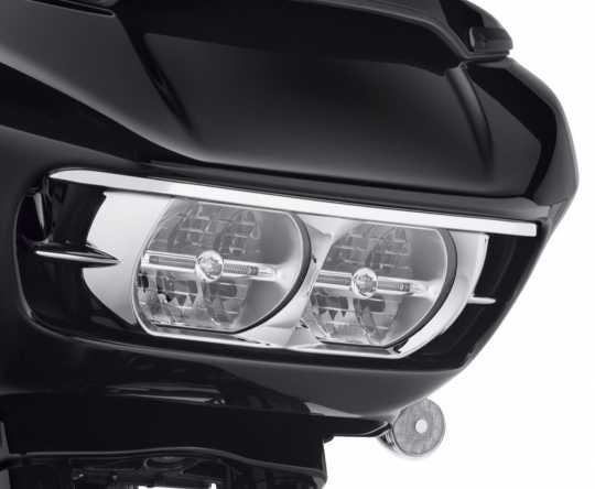 Harley-Davidson Scheinwerfer Cover chrom  - 61400411
