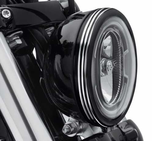 "Harley-Davidson Defiance Headlamp Trim Ring 5 3/4"" black cut  - 61400430"