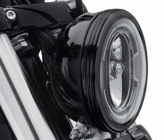 """Harley-Davidson Defiance Scheinwerfer Zierring  5 3/4"""" schwarz  - 61400431"""