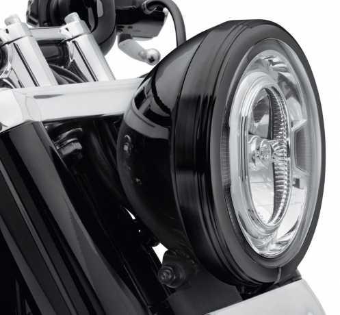 """Harley-Davidson Defiance Scheinwerfer Zierring  7"""" schwarz  - 61400434"""
